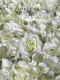 flower wall hire melbourne wedding white roses